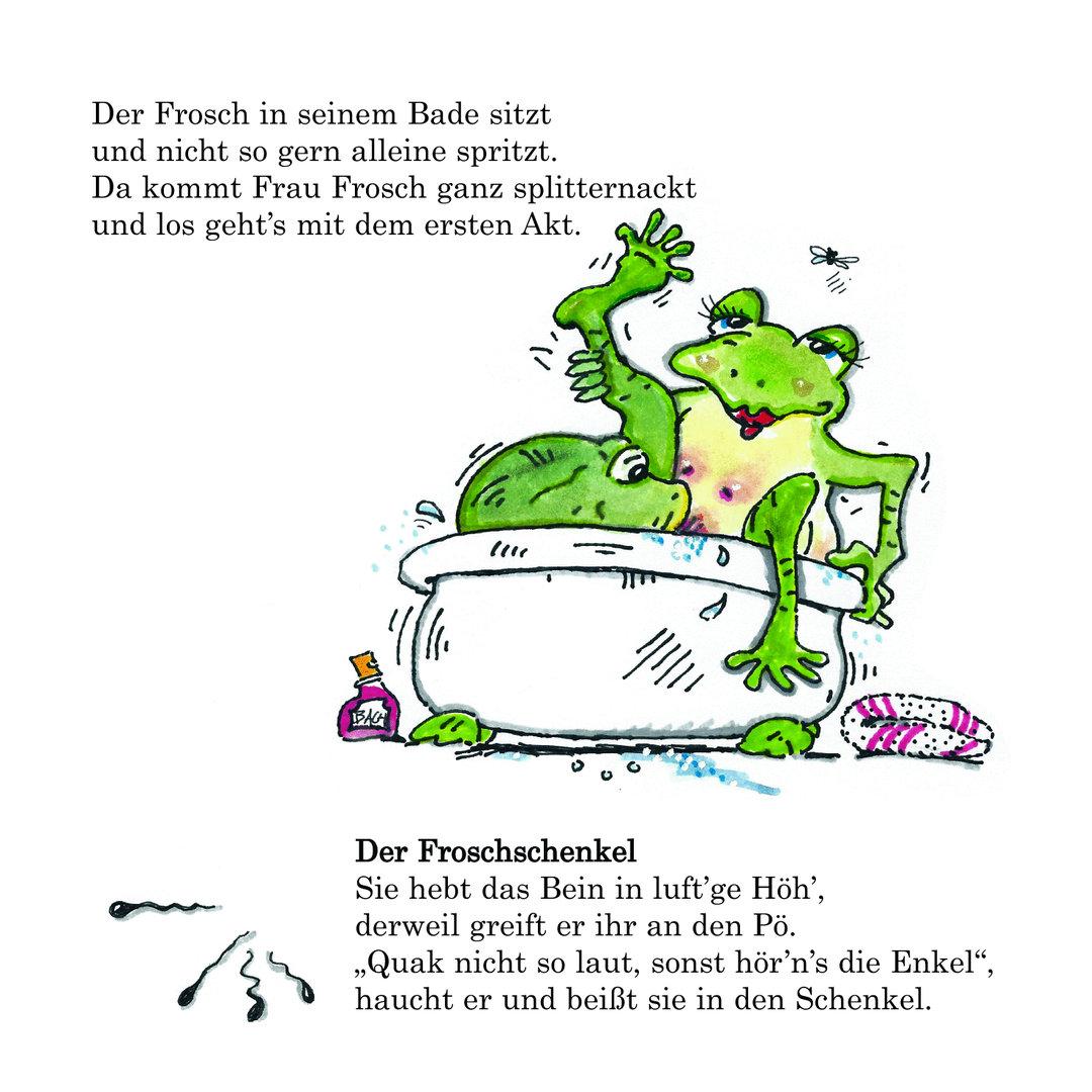 Frösch Freche Liebesspiele Der Frivole Comic Für Die Wanne Badebuch